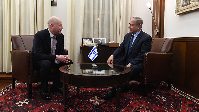 Netanyahu and Greenblatt (Photo: Kobi Gideon, GPO)
