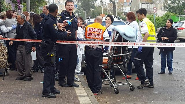 Scene of the murder in Holon