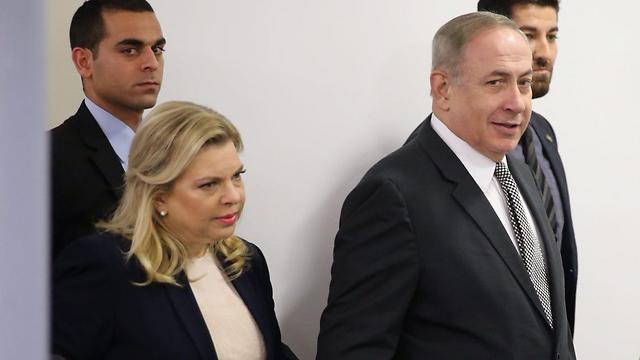 Benjamin Netanyahu and his wife Sara (Photo: Motti Kimchi)