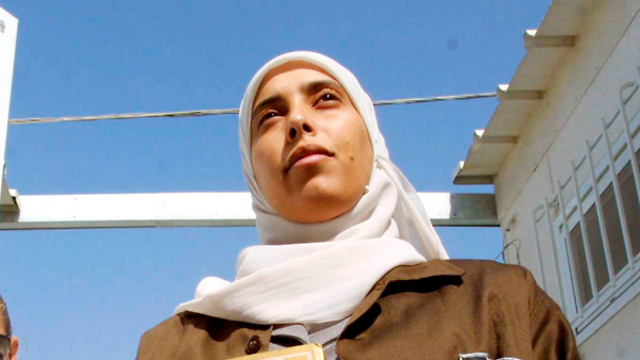 Ahlam Tamimi in prison (Photo: Dan Balilti)