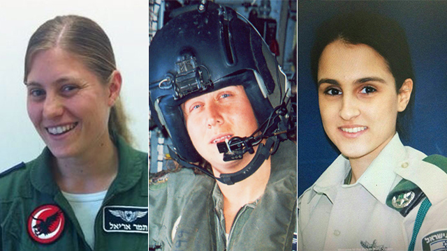 From right to left: Hadar Cohen, Keren Tendler and Tamar Ariel (Photo: IDF Spokesperson's Unit)