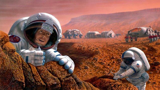 """ישתו יין? הדמיה של בני אדם במאדים (הדמיה: נאס""""א) (הדמיה: נאס"""