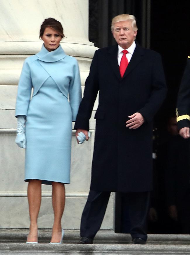 מלניה ודונלד טראמפ (צילום: EPA)