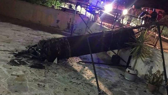 Remains of the S-200 missile shot down near Jordan