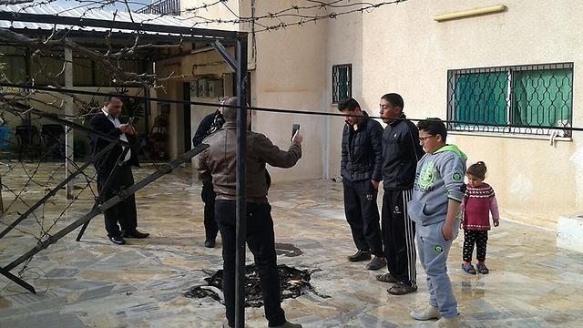 הבוקר בכפר ענבה, שם נמצאו שרידי הטיל
