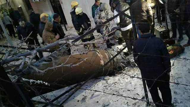 """שרידי טיל נ""""מ סורי שנפלו בירדן"""