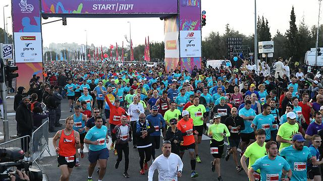 כ-30 אלף משתתפים. מרתון ירושלים (ארכיון) (צילום: עמית שאבי) (צילום: עמית שאבי)