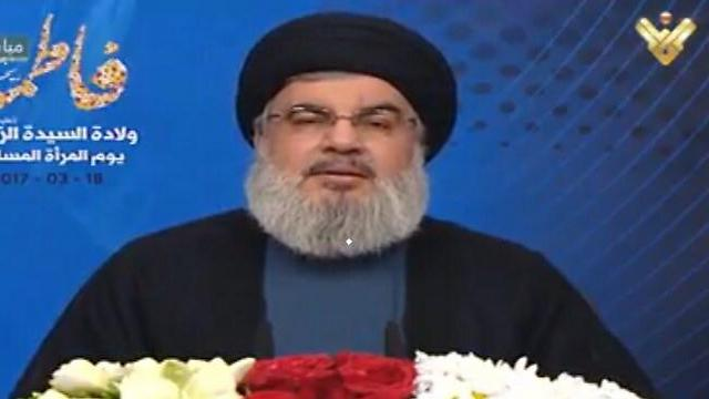 Hassan Nasrallah in his address on Saturday