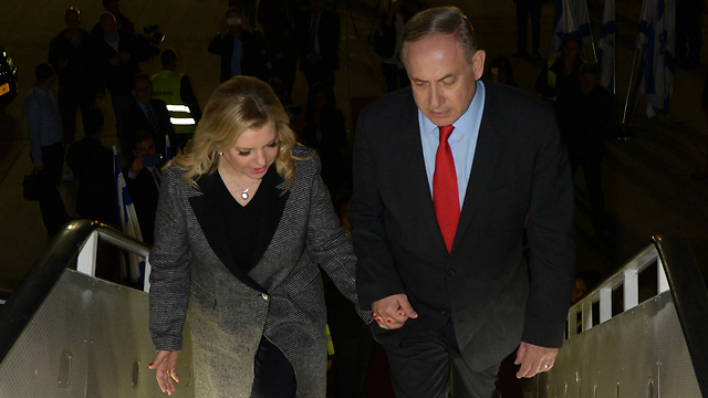Netanyahu and wife Sara leave for a state visit to China (Photo: Haim Tzah, GPO)