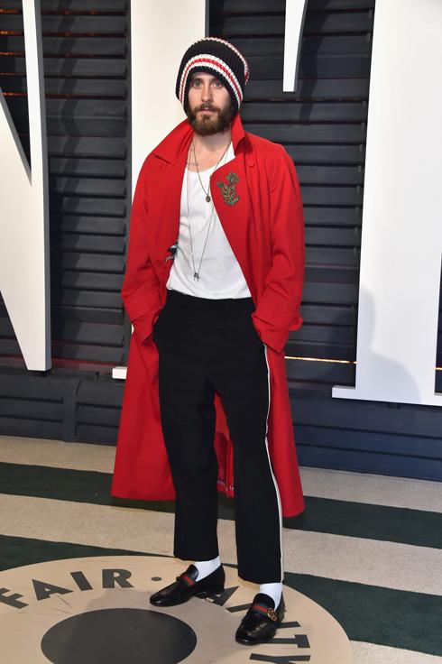 """""""אני דווקא לא חושב כל כך הרבה על מה שאני לובש"""". לטו במסיבה של טקס האוסקר (צילום: Gettyimages)"""