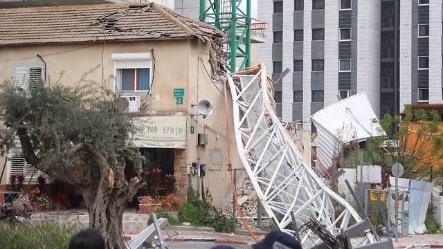 הבית שניזוק מהקריסה ברמת גן (צילום: מוטי קמחי) (צילום: מוטי קמחי)