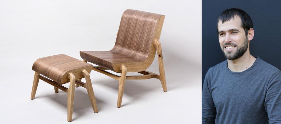 נדב כספי לא חשב שיעצב רהיטים, אבל אחת העבודות המזדמנות שלו כסטודנט הייתה בבית מלאכה לסוסי נדנדה. שם עלה בדעתו לעצב כיסא שיצר משאריות, ושם התאהב בעולם רהיטי העץ (צילום: איה וינד)