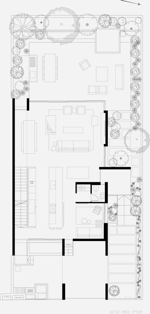 תוכנית קומת הקרקע (תוכניות: סמט אדריכלים)