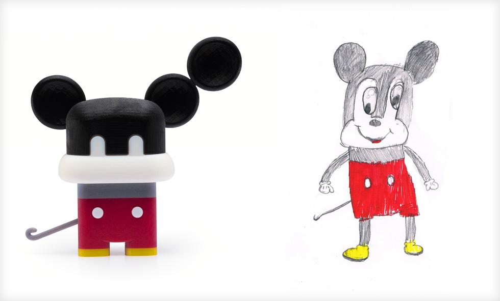 הציור של איתן, והפרשנות של כרם קמינסקי וטום גונן (צילום ציורי ילדים: באדיבות סטודיו דור כרמון, צילום הבובות: יורם רשף)