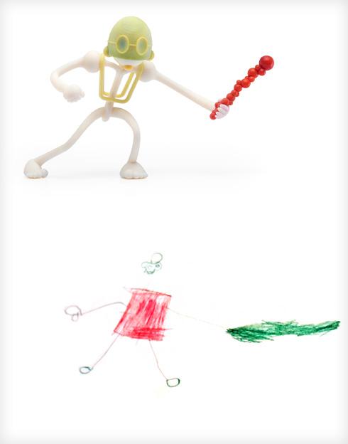 לוחם הדם של זוקה וגיל שפי מסטודיו producks (צילום ציורי ילדים: באדיבות סטודיו דור כרמון, צילום הבובות: יורם רשף)