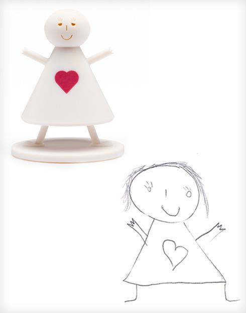הילדה של תסנים ואיתי בר און (צילום ציורי ילדים: באדיבות סטודיו דור כרמון, צילום הבובות: יורם רשף)