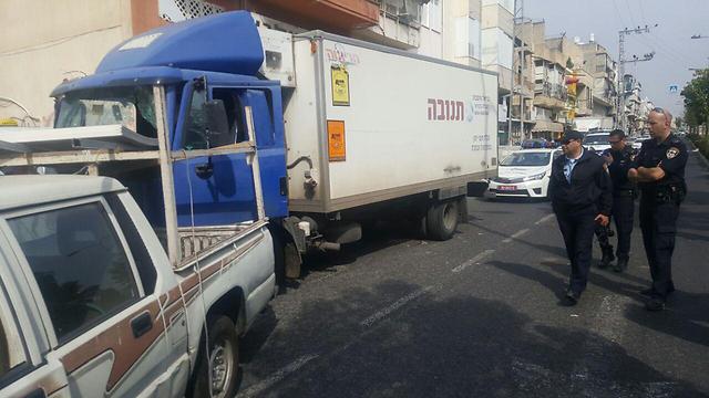 גנב משאית (צילום: דוברות המשטרה) (צילום: דוברות המשטרה)