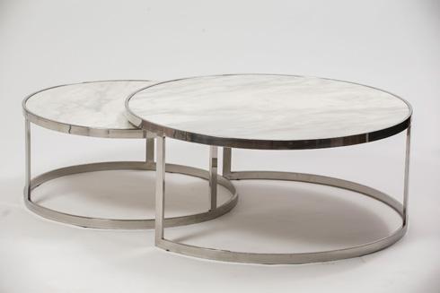 שולחן סלון סקרמנטו ניקל ושיש, 12,900 שקל. ניקולטי (צילום: רמי זרנגר)