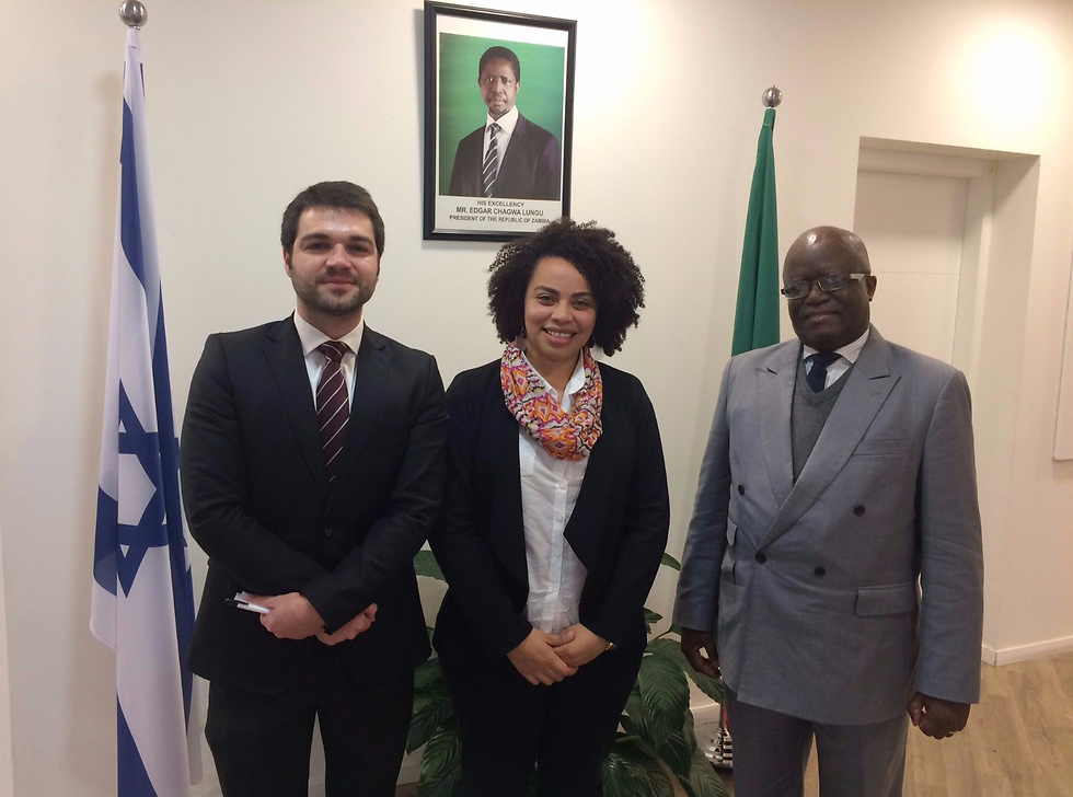 Uthmani (Center) as part of the Israeli UN delegation