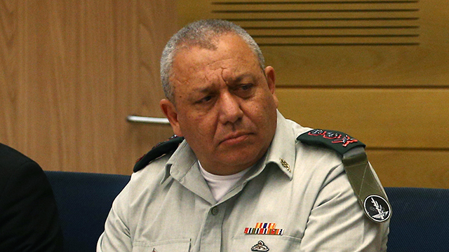 Eisenkot speaking in front of the State Control Committee (Photo: Ohad Zwigenberg)