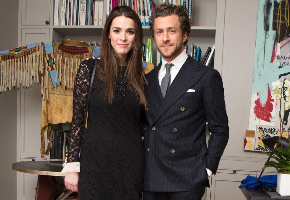 החיבור בין קיסרות האופנה האיטלקית והאמריקאית. פרנצ'סקו קרוציני ובי שפר (צילום: rex/asap creative)