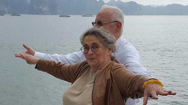 Reuven and Nechama Rivlin during a trip to Vietnam (Photo: Itamar Eichner)