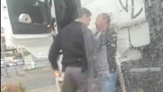 העימות בין השוטר לנהג ()