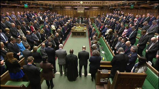 A moment of silence observed at the House of Commons (Photo: Reuters)