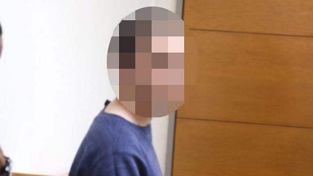 The suspect at court (Photo: Motti Kimchi)