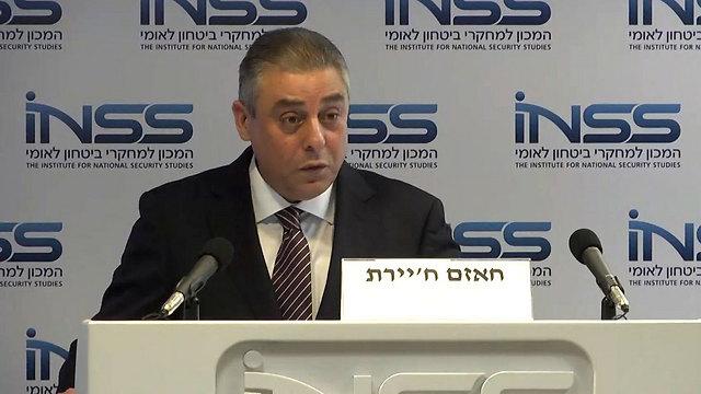 השגריר המצרי חיירת, הערב בכנס (צילום: ניצן דרור) (צילום: ניצן דרור)