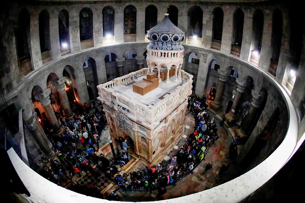 כנסיית הקבר, אחרי השיפוצים השנה (צילום: AFP) (צילום: AFP)