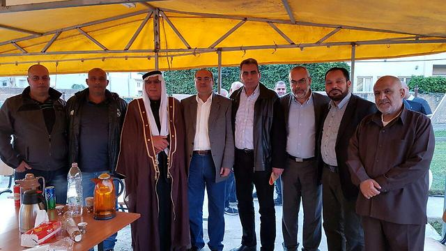 The Sulha Committee at MK Tibi's home