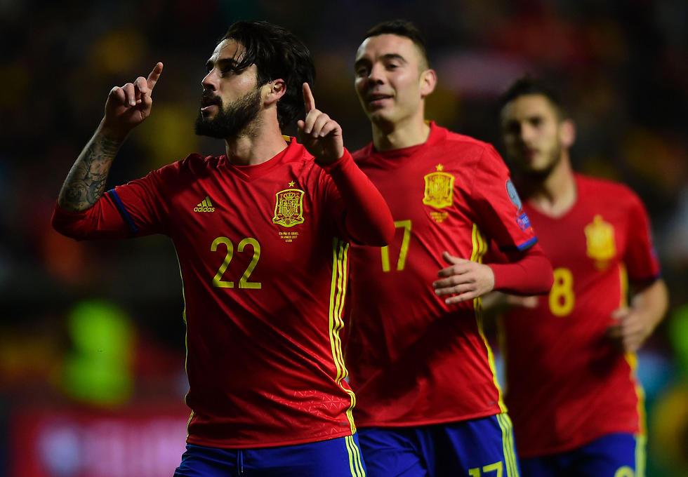 איסקו. כיכב בזכייה ב-2013 ומשחק כיום בבוגרת של ספרד (צילום: AFP) (צילום: AFP)