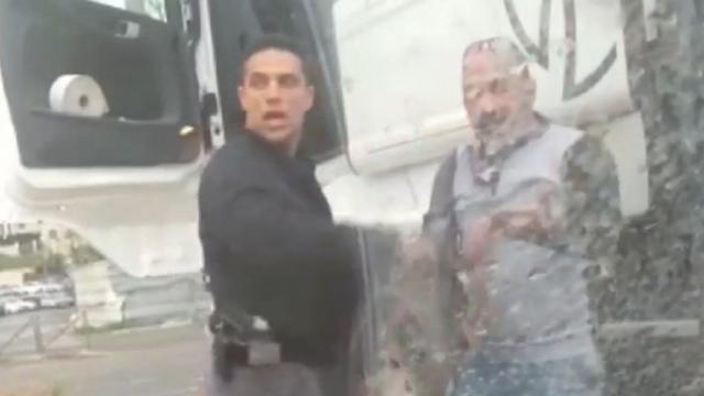 מתוך הסרטון שתיעד את התקיפה