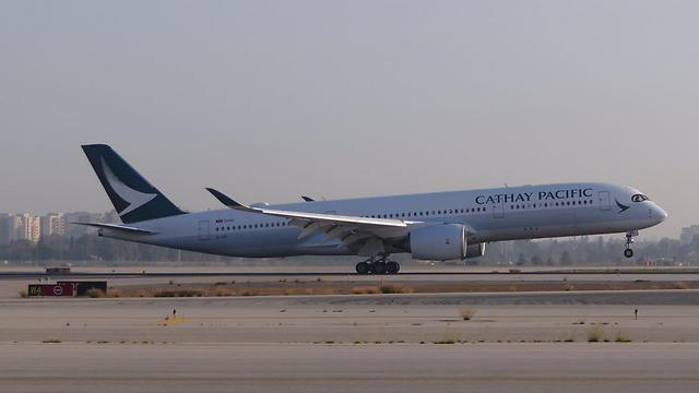 מטוס קתאי פסיפיק בישראל. במקום החמישי בעולם (צילום: דני שדה) (צילום: דני שדה)