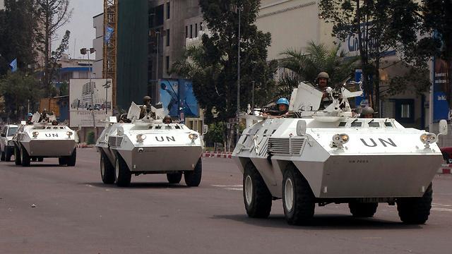 """מדינה במלחמה. כוח או""""ם ברפובליקה הדמוקרטית של קונגו (צילום: AP)"""