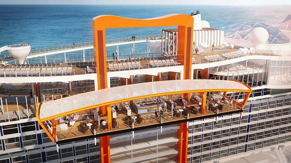 המסעדה המעופפת (צילום: Celebrity Cruises)