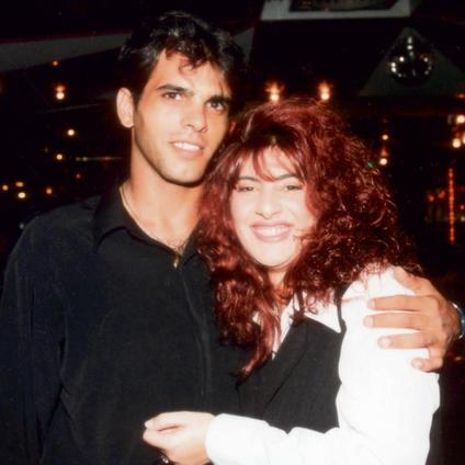 1995, עם אייל גולן לפני הוצאת אלבום הבכורה שלה   צילום: רפי דלויה
