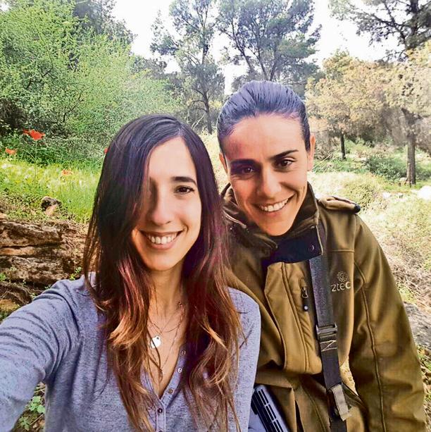 Ben Ezra with her partner, Lior