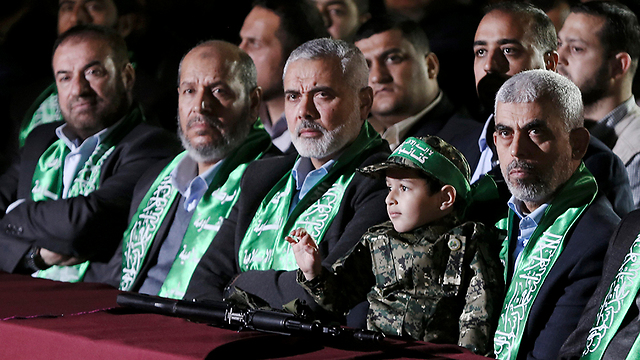 Yahya Sinwar (right) and senior Hamas leadership in the Gaza Strip (Photo: EPA) (Photo: EPA)