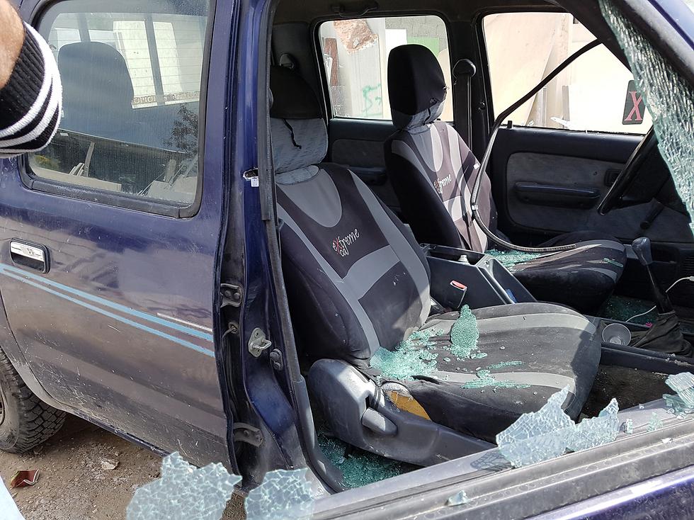 מכונית שנפגעה מהירי באום אל פחם ()