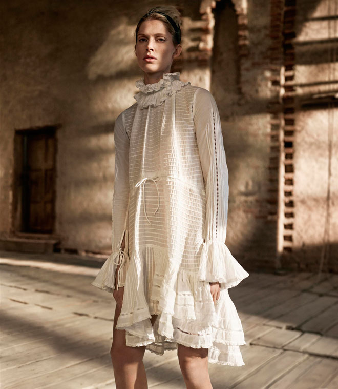 כנראה שיצא לנו בעולם שם של אומה שאוהבת למלא שקיות בבגדים. קולקציית הסטודיו של H&M (צילום: הנס מוריץ)