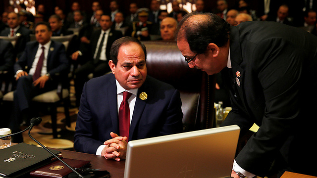 Egyptian President Abdel Fattah al-Sisi at the summit (Photo: Reuters) (Photo: Reuters)