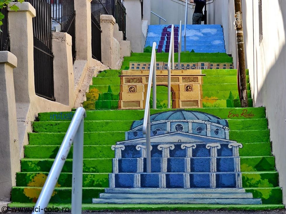 אמנות רחוב: כל שנה סטודנטים צובעים מחדש את המדרגות ברחוב