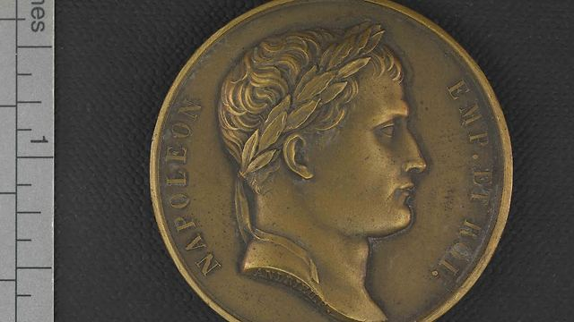 A Napoleon Medal (Photo: National Library of Israel)