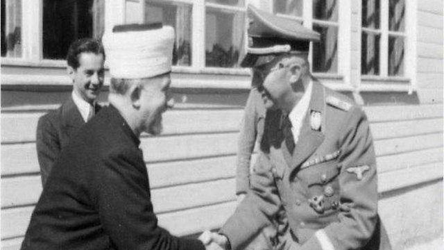 Himmler and the Mufti shaking hands