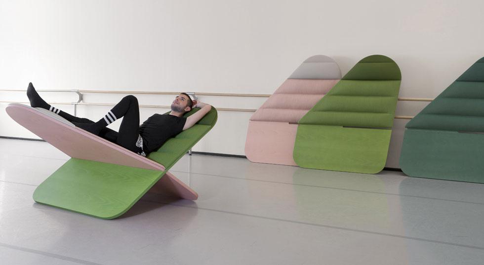 אסף ישראל מציג את Daydream, סדרת מושבים במראה מרחף אך חסון ויציב. ונטורה למברטה (צילום: פרנצ'סקו בוליס)