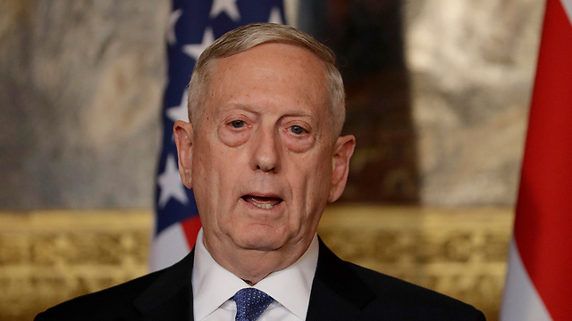 Mattis at the press conference (Photo: AP)