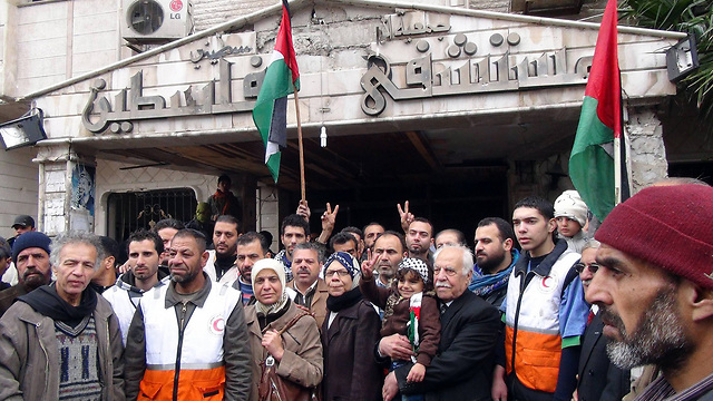 Palestinians in Damascus (Photo: AFP)