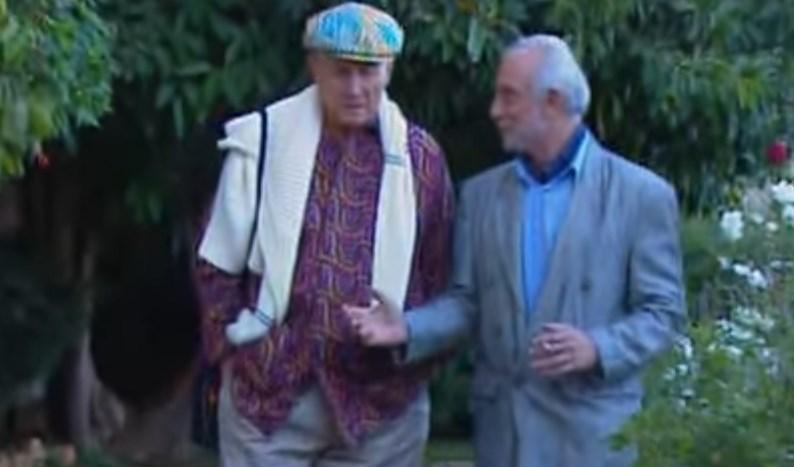 Владимир Бейдер и Евгений Евтушенко в Иерусалиме